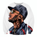 Raisevern New Fashion 3D Sweatshirts Cartoon Chris Brown Printed Hoodies Tops Man Casual  Outerwear Plus Size 5XL