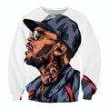 Raisevern Nueva Moda Sudaderas 3D de Dibujos Animados Chris Brown Impreso Sudaderas Con Capucha Tops Hombre prendas de Vestir Exteriores Ocasional Más El Tamaño 5XL