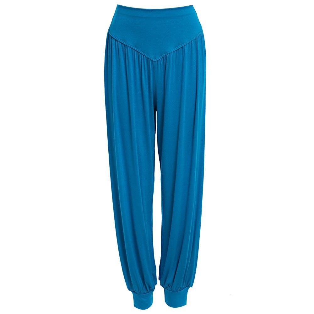 Prix pour Femmes Plus La Taille Défaites De Danse De Yoga Pantalon TaiChi Pleine Longueur Taille Haute Harem Modal Danse Sport Lâche Pantalon 10 Couleurs