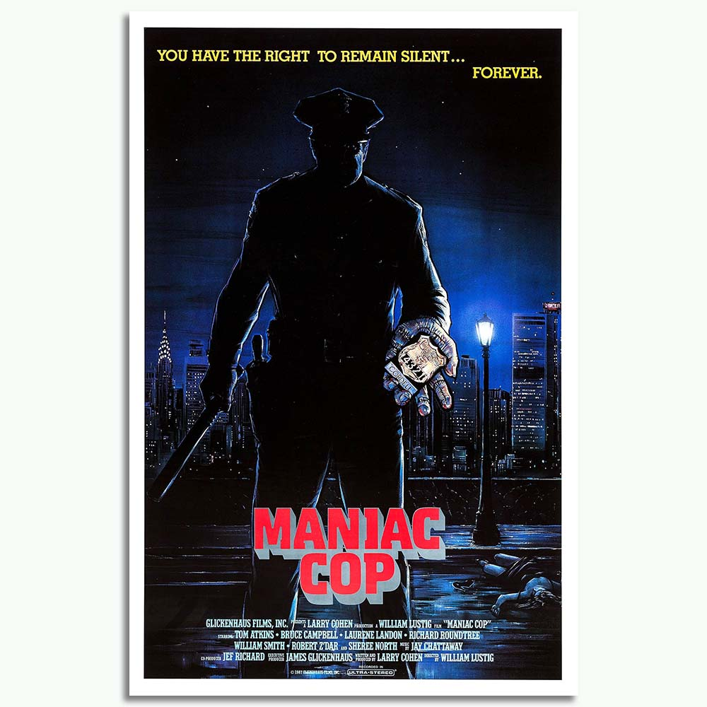 Maniac Cop Movie Art Posters Print 12x18 24x36 Inches On Silk Frabic Wall Picture For Living Room Home Decor image