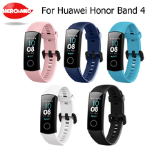 In Stock Silicone Wrist Strap For Huawei Honor Band 4 Standard Version Smart Wristband Sport Bracelet Band honor band 4 Correa youkex 2017 new strap for huawei honor band 3 replacemnt fashion sport silicone band 6 colors for huawei honor3 smart wristband