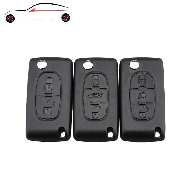GORBIN 2/3 Button Car Key Case For Peugeot 207 307 308 407 607 807 For Citroen C2 C3 C4 C5 C6 Flip Folding Car Key Cover NO Logo