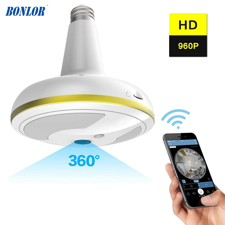 цена на Wireless WiFi Security Camera Light Bulb Home Security System 360 Degree with Motion Detection/Night Vision for IOS Android APP