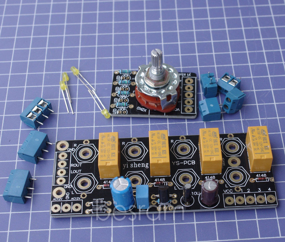 Audio Input signal Selector Relay Board/ Signal switching amplifier board