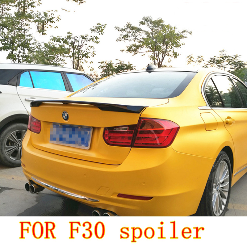 MONTFORD For BMW F30 F35 3 Series M3 320i 323i 325i 328i 2013 2014 2015 2016 ABS Plastic Unpainted Rear Trunk Boot Wing Spoiler for 12 16 bmw 3 series f30 4dr trunk spoiler oem painted match a83 glacier silver
