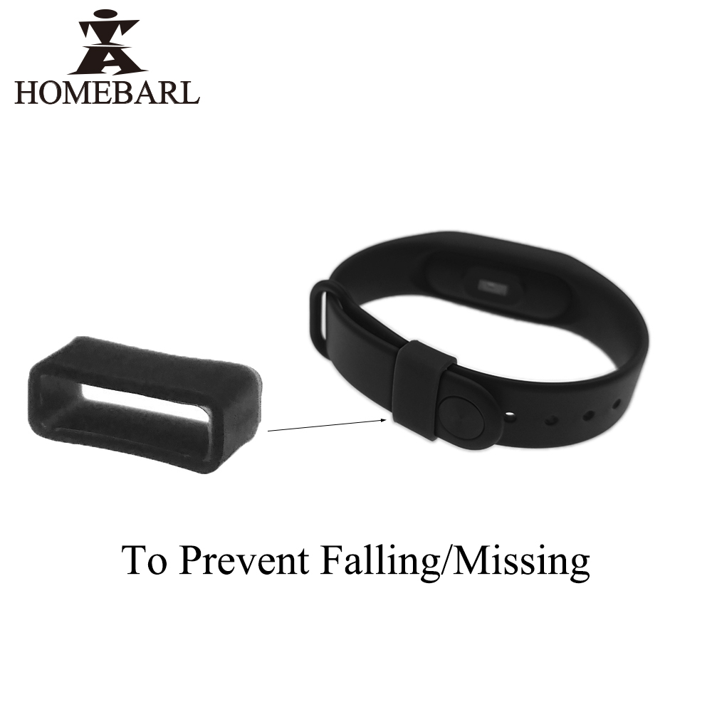 Anti Fall Missing Silicone Button Protector Case Ring For Xiaomi Mi Band 2 3 For Fitbit Alta HR Flex 2 Original Strap Wristband