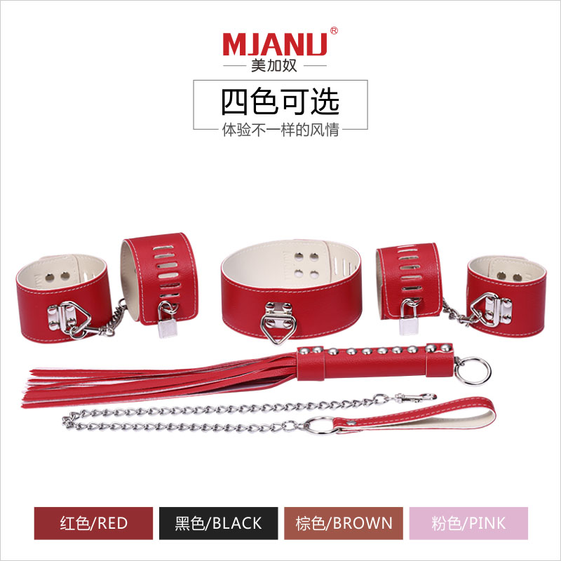 ФОТО Adult Games 5pcs Leather Bondage Restraints Kit Hand&Ankle Cuffs Ball Gag Whip Collar Fetish BDSM Sex Toys For Couples Role Play