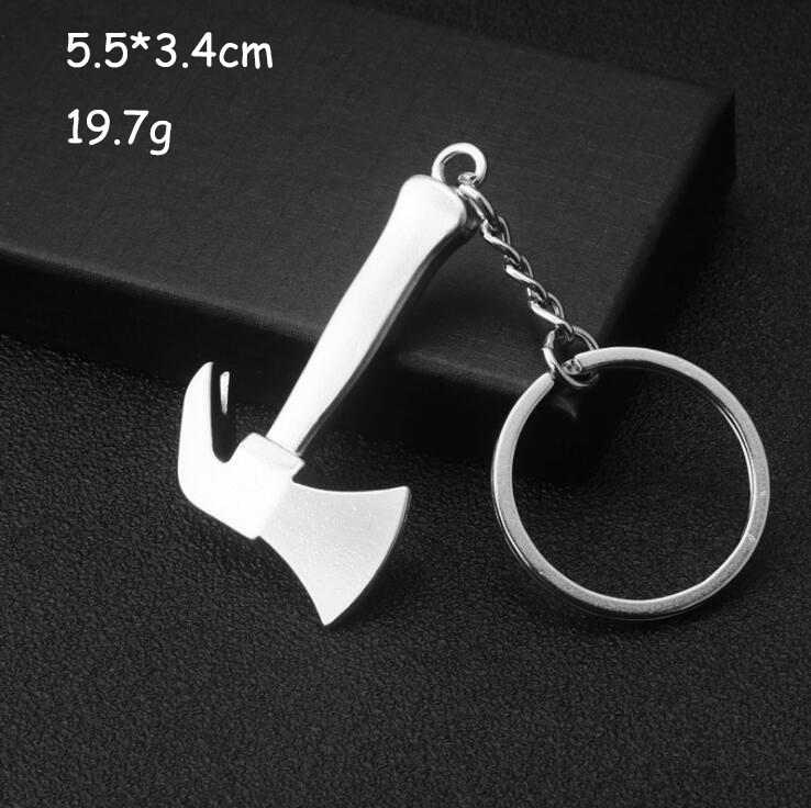 Llaveros para hombres, llavero para bolsa de coche, herramienta de combinación para exteriores, Mini Cierre de bolsillo portátil, regla, martillo, llave, alicates, pala