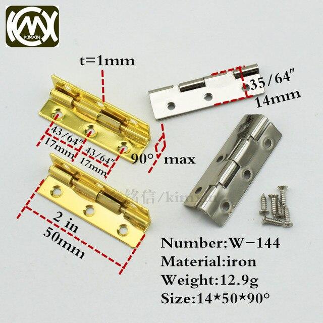 14*50mm 10 stück goldene/nickel auf lager kleine box scharnier ...
