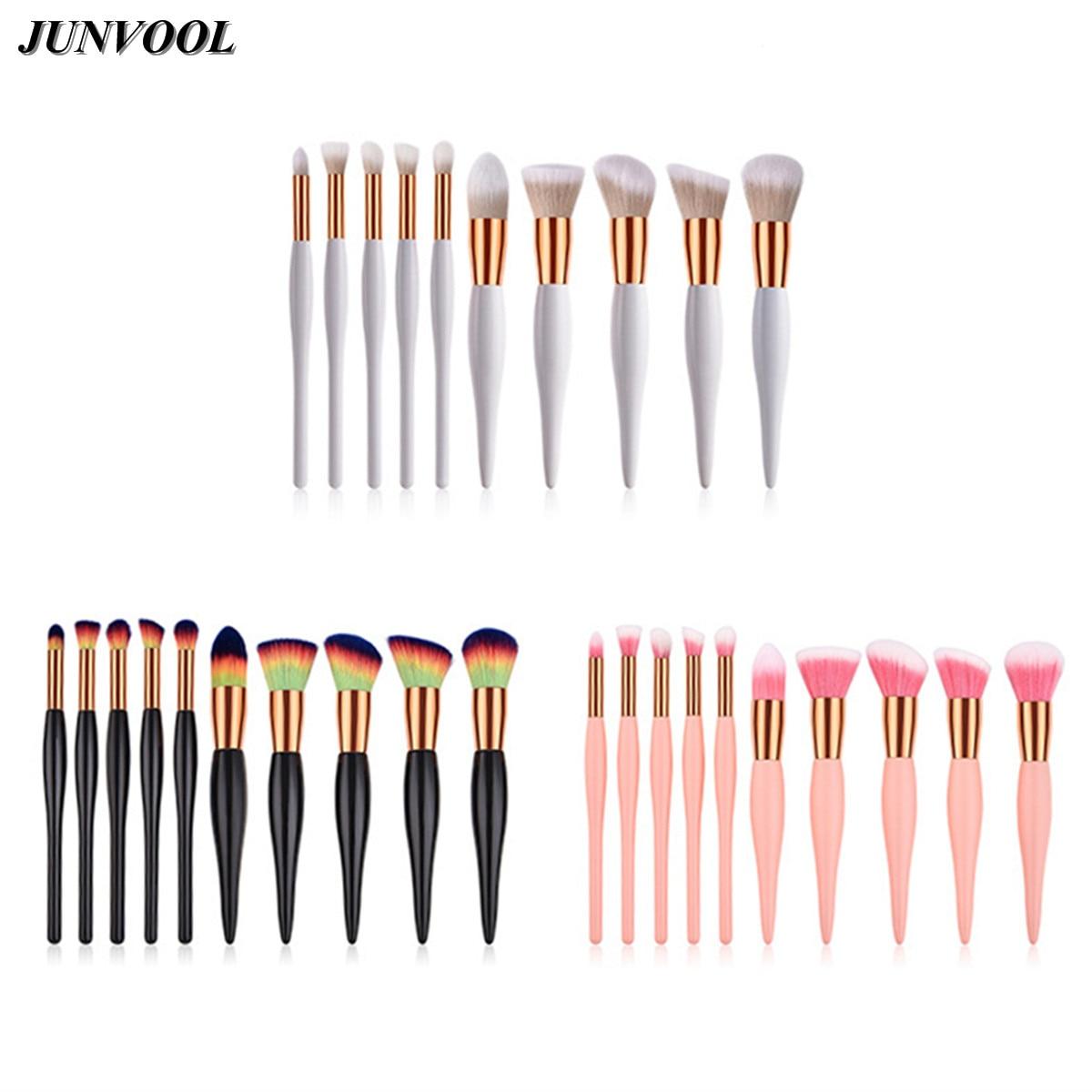 Superior Soft Cosmetic Make Up Brush Set 10pcs Woman's Toiletry Kit Beauty Makeup Brushes Newest Kabuki Flame Powder Blush Brush