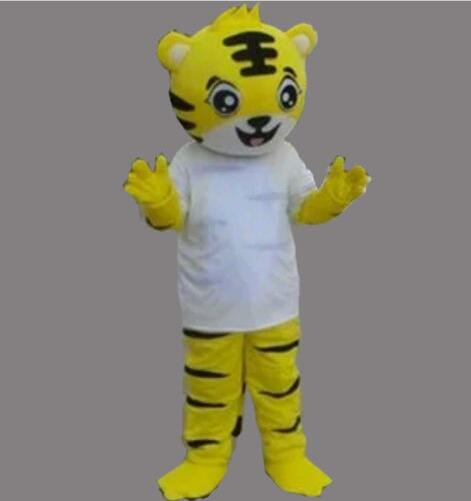 2019 Adult  Tiger Mascot Costume Cartoon Cosplay Animal Dress Clothing #@