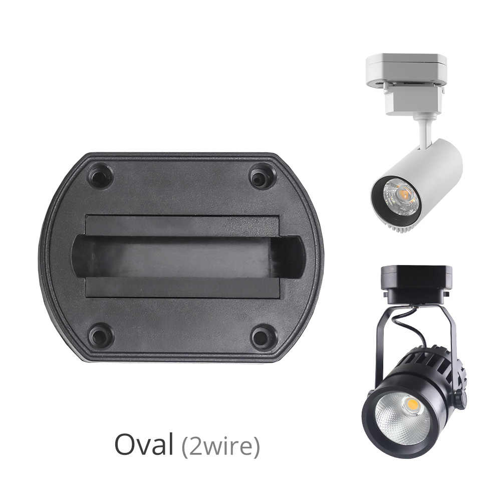 Black White LED Track Lighting Accessories Rail Connector Spotlights Track Box For 2 Wire 3 Wire Fixtures Home Store Raill Lamp