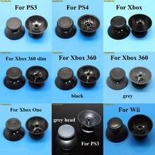 Bastão analógico de joystick, 2 peças, tampa aderente para joystick de sony playstation dualshock 3/4, ps3, ps4, xbox 360/one, controle de joypad controlador