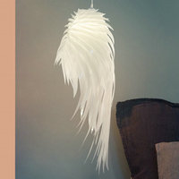 Nordic modern feather chandelier restaurant living room bedroom hotel decoration engineering angel wing Chandelier