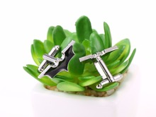 Men's Stylish Cufflinks with Super Hero Themed Pattern