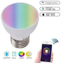 WiFi Smart Light Bulb GU10/E27/GU5.3 6W RGBW LED Dimmable Light Cup Compatible with Alexa&Google Home Remote Light Bulb