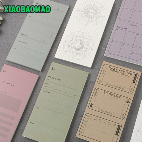 Vintage Retro 30 sheets Memo Pad Sticky Notes For School Office Supplies Stationery Planner Kawaii Post It Notepad Paper Sticker rainbow northern europe memo pad paper sticky notes notepad post it stationery papeleria school supplies material escolar