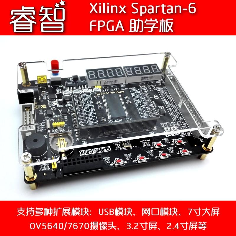 Xilinx Spartan-6 FPGA Student Development Board Send CameraVGA ModuleSDRAM