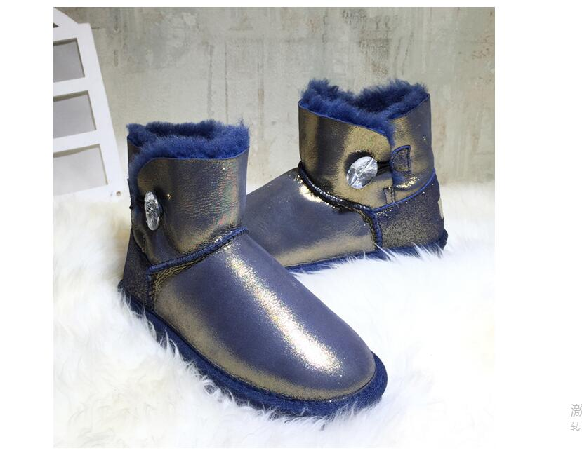 100% Genuine Sheepskin Leather Snow Boots Natural Fur Winter Boots Fashion Waterproof Warm Wool boots Women Boots 2016 australia genuine sheepskin leather women snow boots 100% natural fur winter boots warm wool ankle boots
