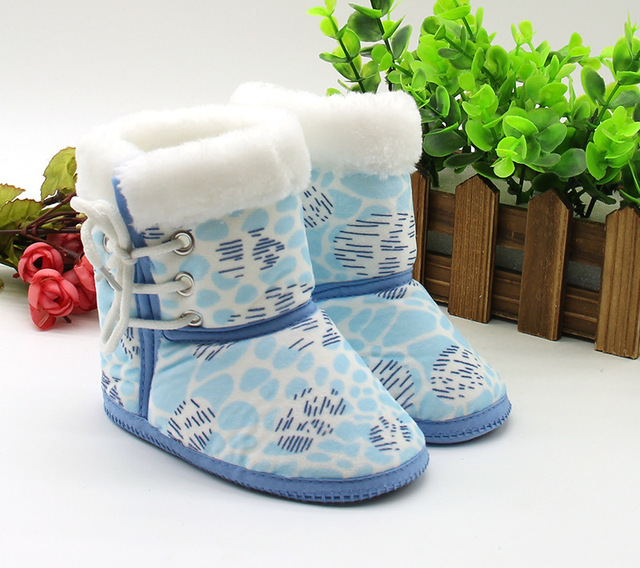 2016 nuevos zapatos de bebé de algodón zapatos del niño del algodón de los niños