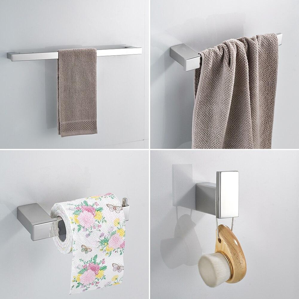 Suportes de papel Euro style Banheiro Acessórios de Hardware De Banho De Aço Inoxidável Conjunto de encaixe Do Banheiro anel de Toalha anel de Toalha WF-610000