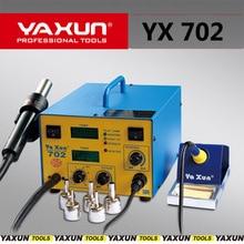 Yaxun 702 핫 에어 건 및 납땜 2 in 1 SMD 재 작업 스테이션 고품질 용접 Bga 재 작업 스테이션, 2 LCD 온도 디스플레이