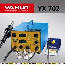 Yaxun 702 HOT AIR GUN และบัดกรี 2 in 1 SMD Rework Station คุณภาพสูงเชื่อม BGA Rework Station,2 จอแสดงผล LCD อุณหภูมิ