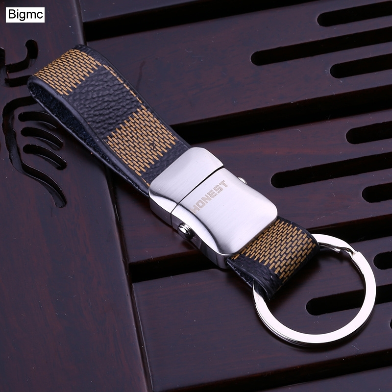 Brand New Top Men Car Key Chain Women High Quality Metal Keychain Leather Key Holder Business Gift Jewelry K17390