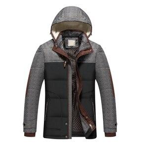 Image 2 - ブランド冬のジャケットの男性ファッションM 5XL新到着カジュアルスリム綿厚いメンズコートパーカーフード付き暖かいcasaco masculino