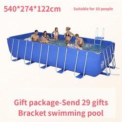 عائلة كبيرة الأطفال الكبار الأطفال السباحة بركة المياه نفخ زيادة سماكة كبيرة صافي أحواض سباحة