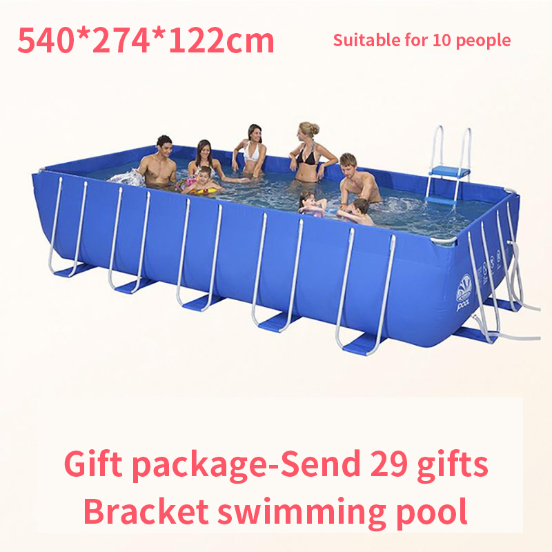 Metal Frame Steel Tube Rectangular Square Swimming Pool Piscine Hors Sol Piscina Inflavel Adulto Albercas Grandes Summer Pool