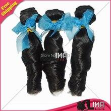 6A Brazilian Virgin Hair Loose Wave 3Pcs Lot Ms Lina Hair Unprocessed Virgin Hair Brazilian Loose Wave Human Hair Weave Bundles