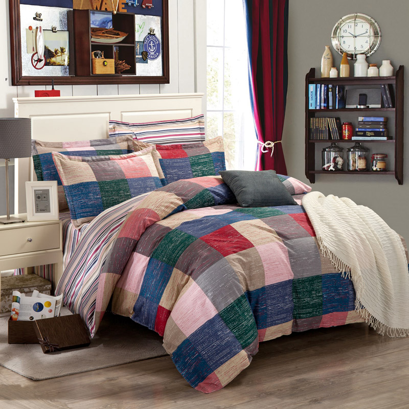 British Plaid Bedding Set High Quality 100% Cotton Bed Linens Duvet Cover Sets Bed Sheet Pillowcases Twin Full Queen King SizesBritish Plaid Bedding Set High Quality 100% Cotton Bed Linens Duvet Cover Sets Bed Sheet Pillowcases Twin Full Queen King Sizes