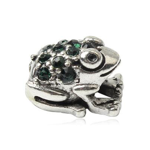Punk Small Animal Crystal Frog Charms Beads Fit Pandora Bracelets Necklaces for Women Girl Birthday DIY Accessories Colar