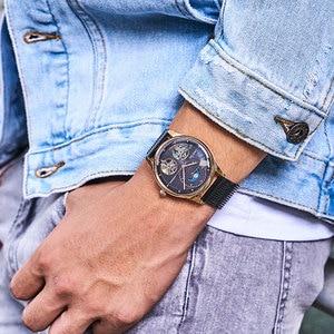Image 2 - Bestdon montre automatique avec squelette, modèle à Tourbillon, pour hommes, suisse, marque de luxe, montre pour hommes