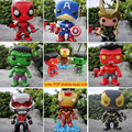 Funko POP Marvel Avengers Captain America Hulk Loki Vinyl Deadpool Iron man ant-man Bobble Head 10cm PVC Action Figure toys