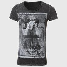 Graphic Tees Men Boys T Shirt Skull Print T-Shirt Hip Hop Clothing Animal Print Tops