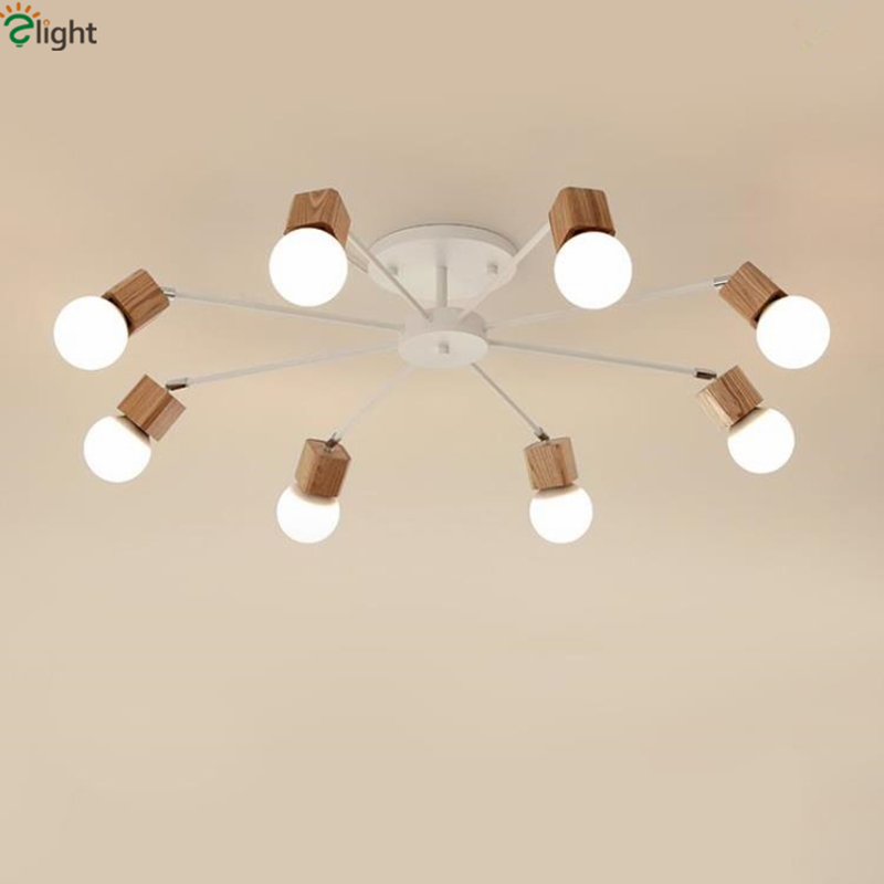 Nordic Minimalism Rotatable Led E27 Chandelier Bedroom Lustre Ceiling Chandelier Lighting Luminaria Lamparas Fixtures