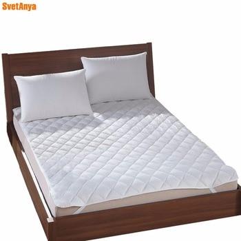 Svetanya blanco fibra de poliéster ropa de cama cubierta de colchón acolchado suave lijado multisize colchón cubierta protectora