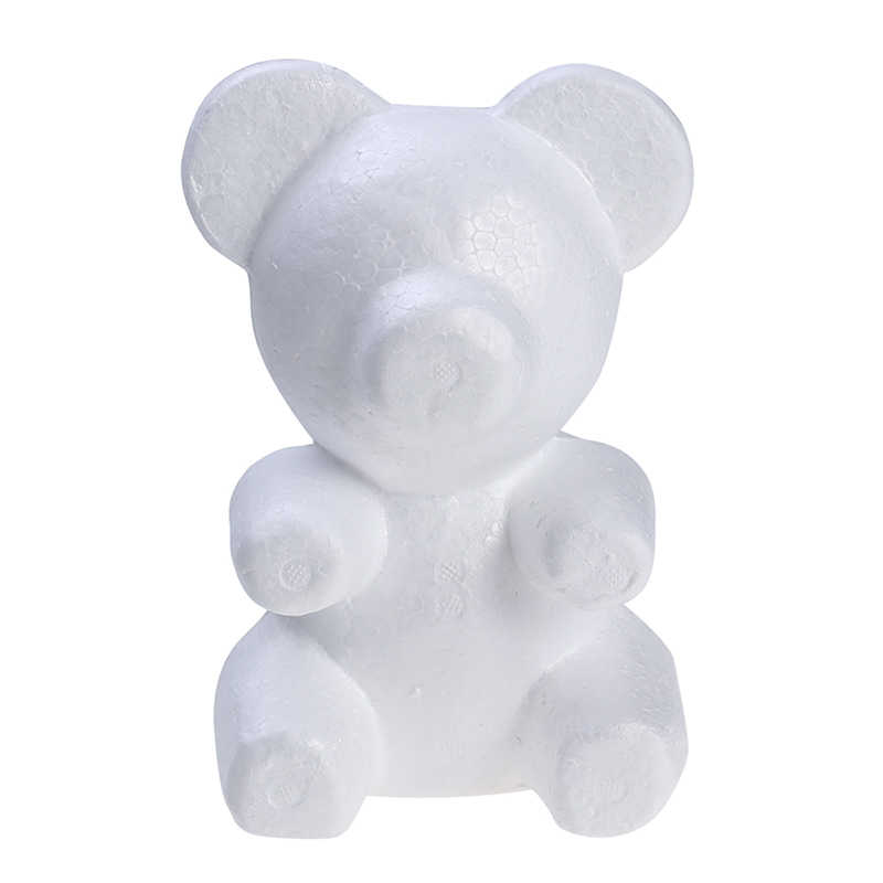 1pcs 200mm Modelling Polystyrene Styrofoam Foam bear White Craft Balls For DIY Christmas Party Decoration Supplies Gifts