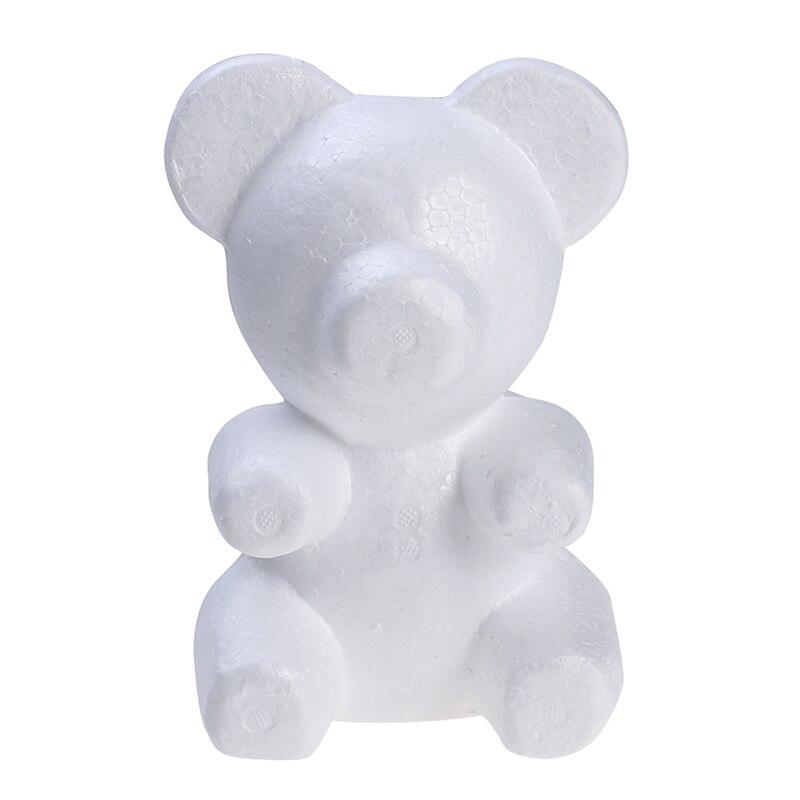 Boules ours en mousse de styromousse 200mm | Ours en polystyrène de modélisation, boules de décoration blanches pour bricolage, fête de noël, fournitures de décoration 1 pièces %
