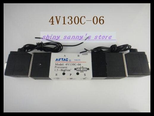1Pcs 4V130C-06 AC110V  Solenoid Air Valve 5 port 3 position BSP 1/8 подвесной светильник la lampada 130 l 130 8 40