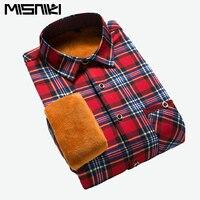 Лидер продаж Бесплатная доставка Повседневные клетчатые мужские рубашки теплая флисовая рубашка с длинным рукавом для мужчин рубашки c852