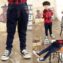 2016 new children's clothing boy pants boy jeans Korean children denim trousers simplicity for 2-7T