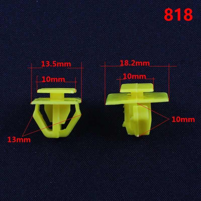 KE LI MI 818 Авто желтый пластиковый крепеж дверной порог полосы отделка Стопорные зажимы для hyundai