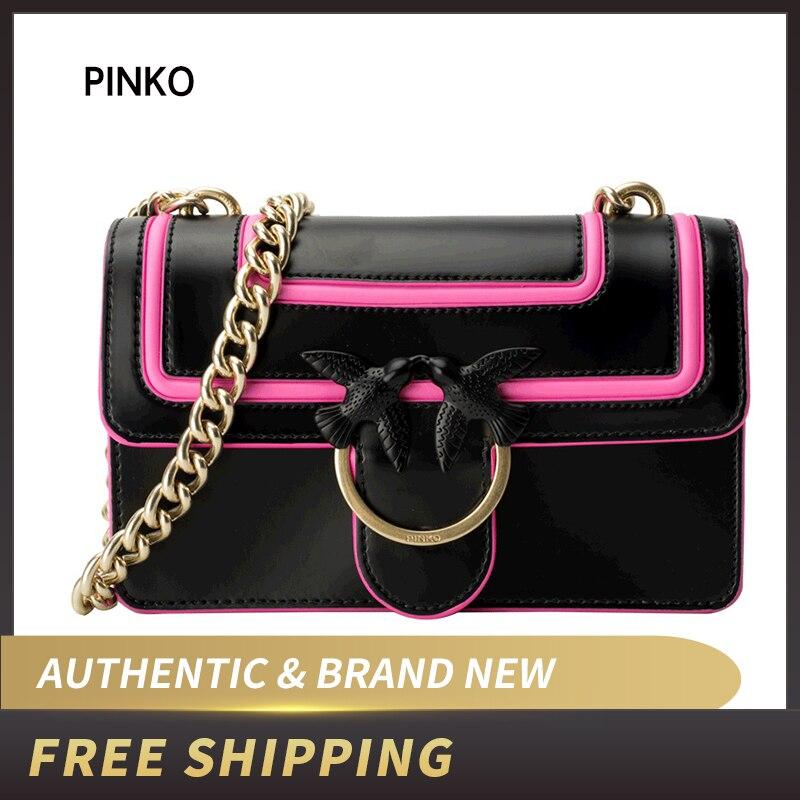 PINKO Mini Love Fluo Shoulder Bag Leather 1P21AF Y5F1