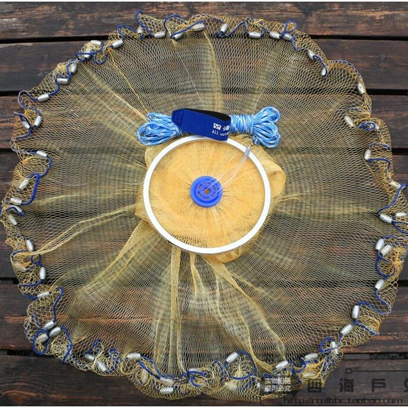 USA-tyyliset nylonvaluverkkoheittoverkkokalastuslaukku pyöreä - Kalastus - Valokuva 1