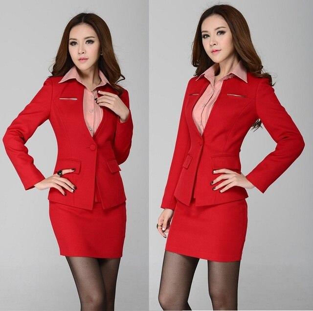 51f3387ca129 New Plus Size 4XL 2015 Fashion Slim Autumn Winter Uniform Style Office Work  Wear Professional Skirt