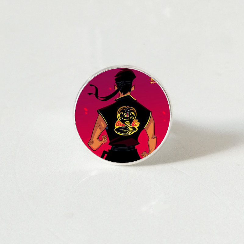 Cobra Kai ring American Opera Cobra Kai silver ring Jewelry Movies Fans Gifts in Rings from Jewelry Accessories