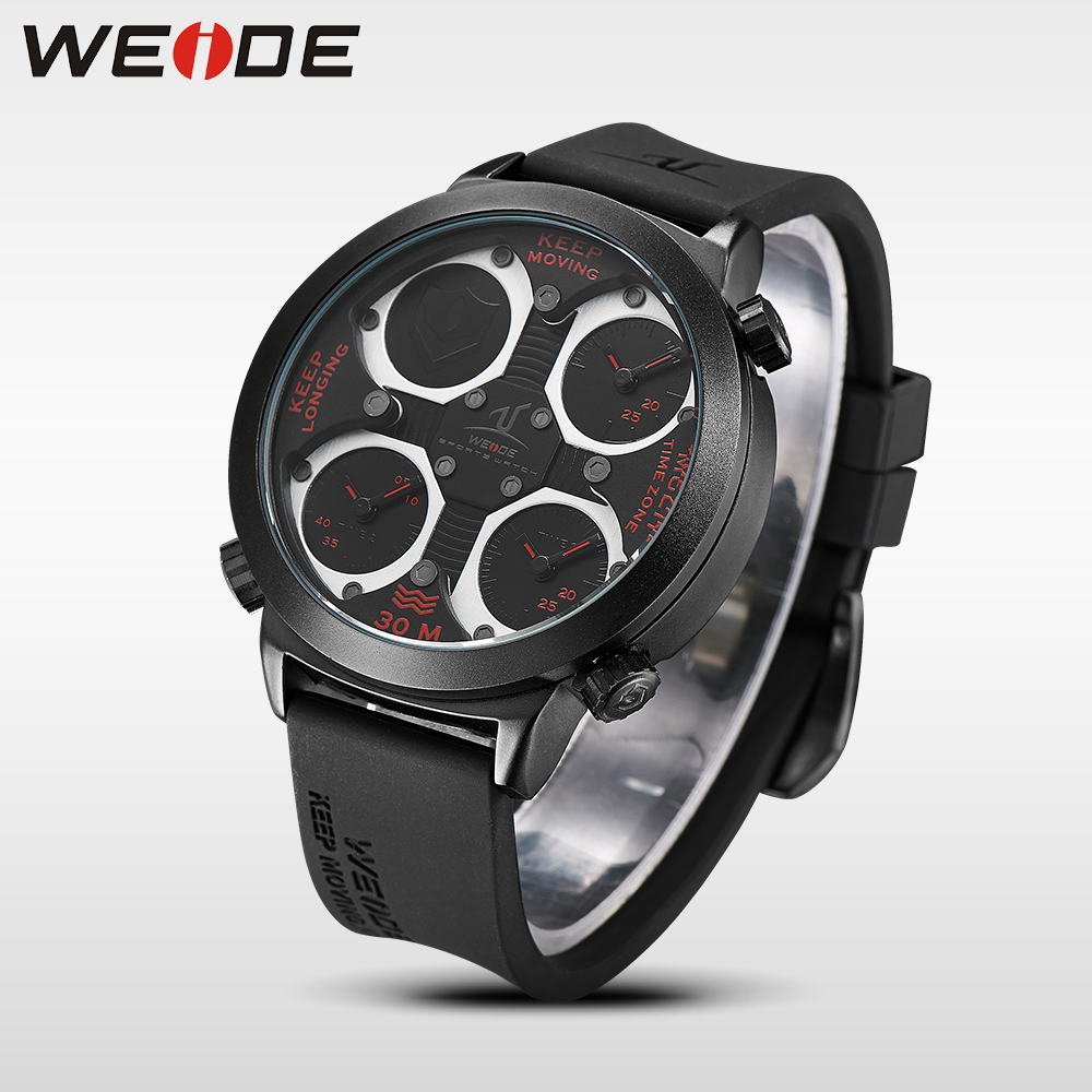 где купить WEIDE luxury brand quartz Watches Mens Military Dual Time Zone Waterproof  Sports Army Quality silicone analog Relogio Clock по лучшей цене